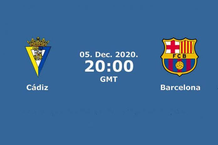 Match Prediction - Cádiz VS Barcelona - Santander League